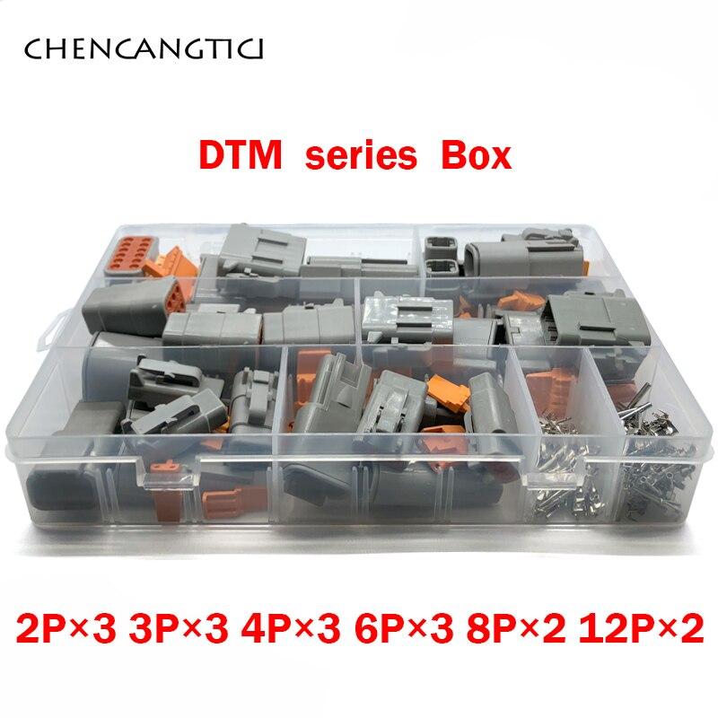202 pcs Deutsch DTM Waterproof Wire Connector Automotive Sealed Electrical Plug with pin DTM06-2 3 4 6 8 12S DTM04-2 3 4 6 8 12P